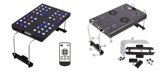 Ocean Revive Arctic LED Saltwater lighting unit. Complete with remote control.